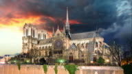 Paris - Notre Dame, Time lapse video