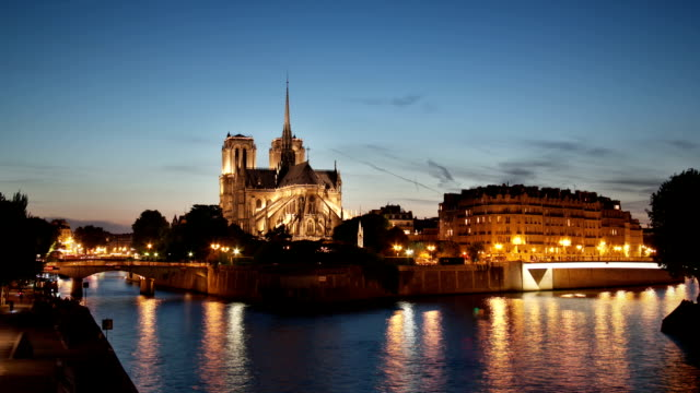 Paris Notre Dame timelapse video