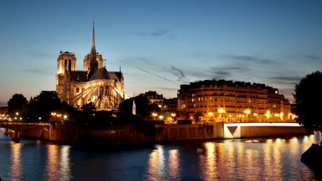 Paris Notre Dame timelapse video
