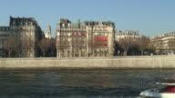 (HD1080i) Paris: River Seine Scene video