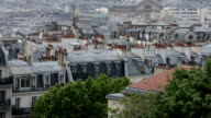 Paris roofs panning to left video