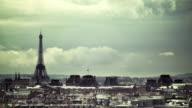 Paris skyline timelapse video