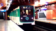 Paris subway station video