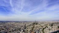 Paris timelapse aerial view 1080HD video