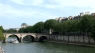 Paris, view of the seine video