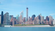 432 park avenue building construction day time 4k time lapse from new york video
