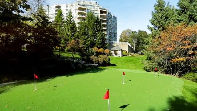 Park backyard area. Golf area with grass video