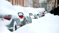 Parked car in Winter video