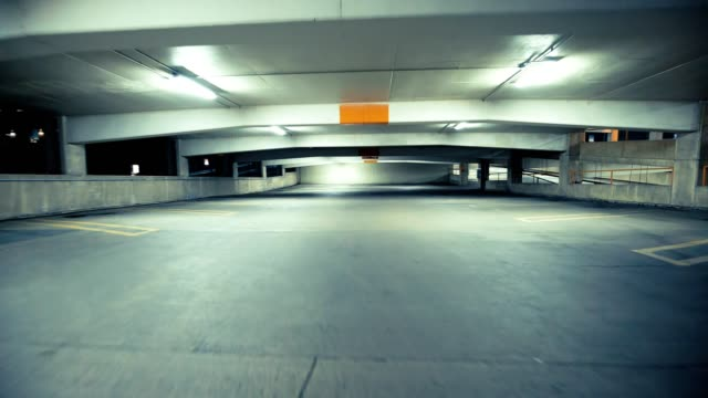 Parking deck at night video