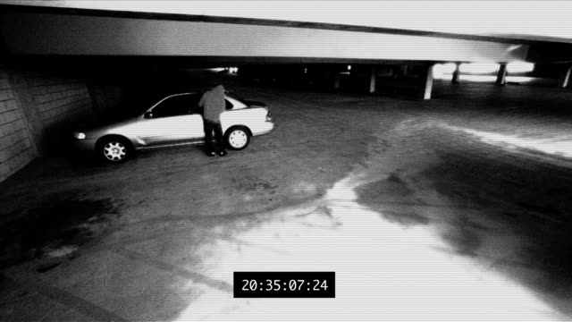 Parking Garage Theft Surveillance video
