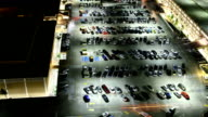 Parking lot at night video
