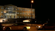 Parliament Building Capital Cities Athens at Night video
