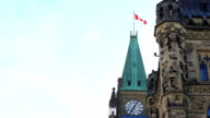 Parliament Building with Canadian Flag video
