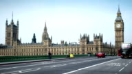 Parliament, UK. Time lapse with a moving camera. video