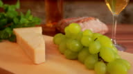 Parmesan with  white wine. grapes and bread video