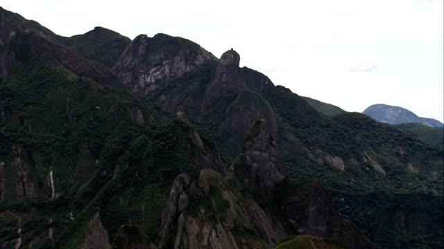 Parque Nacional Da Serra Dos Orgao  - Aerial View - Rio de Janeiro, Magé, Brazil video