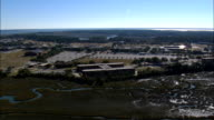Parris Island - Marine Corp Recruit Depot  - Aerial View - South Carolina,  Beaufort County,  United States video