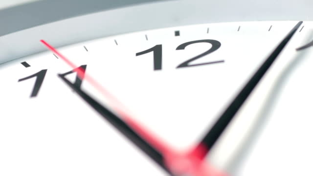 Part of a clock face video