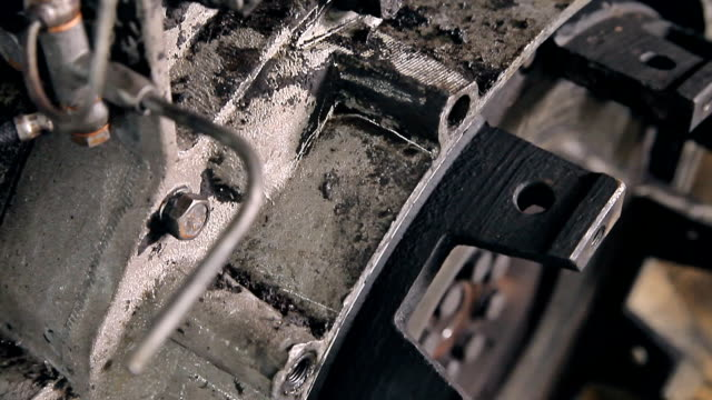 A part of an old car engine video