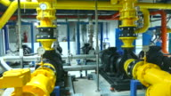 Part of factory machinery. Industrial background video