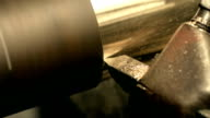 Part processing of detail with machine using of special stone video