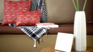 Partial of sofa in modern Living room/ interior design & renovation conceptual video