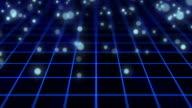 particle bounce motion,blue color video