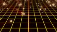 particle bounce motion,orange color video