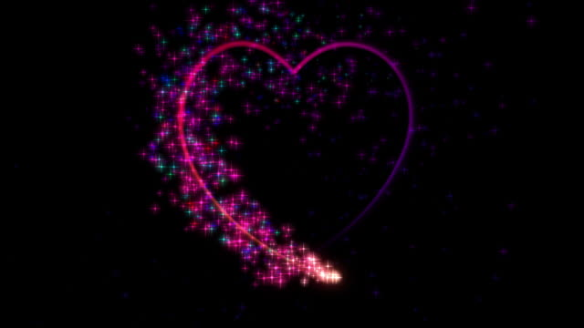 Particle Heart, HD Element with Alpha Channel video
