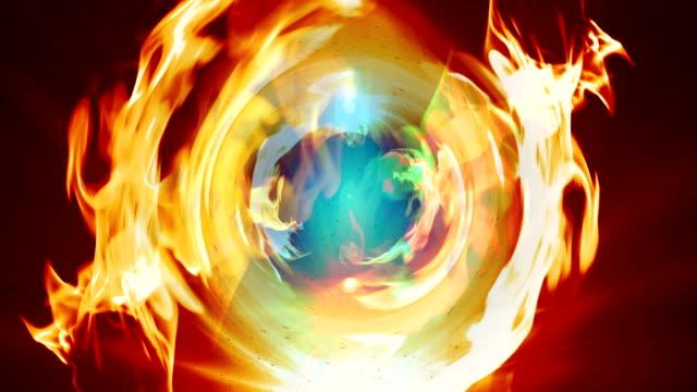 Particle Swirl Smoke fire video