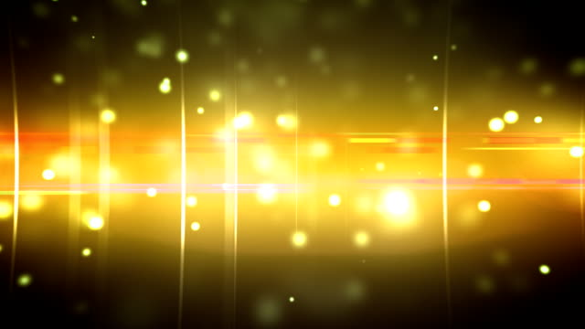 Particles and optical flares gold video