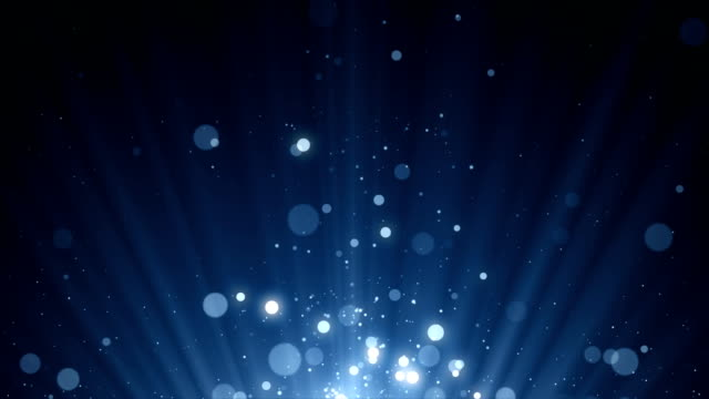 Particles dust abstract light bokeh motion titles cinematic background loop video