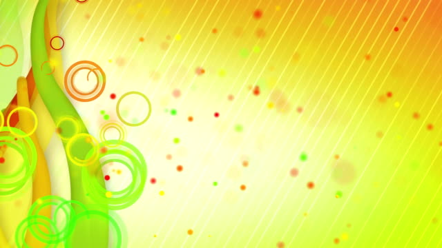 particles lines orange green loop background video