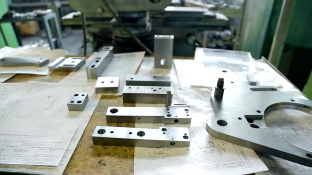 Parts machined reamed prepared to replace manufacturing installation video