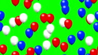 Party balloons on green screen video