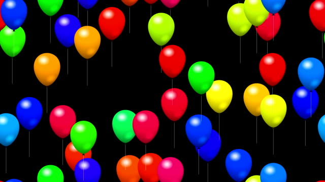 Party balloons with alpha video