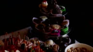Party cakes on a table video