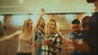 Party friends go wild and dance hard video