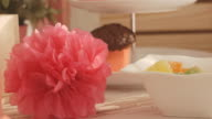 Party pom-pom and candies video