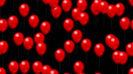 Party red balloons with alpha video