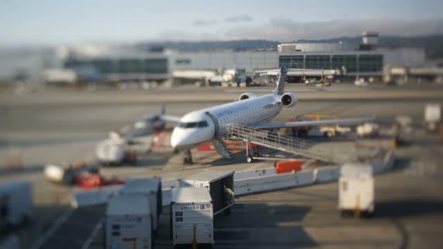 Passangers Disembarking from Airplane video