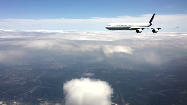 Passenger Airplane at Cruising Altitude video