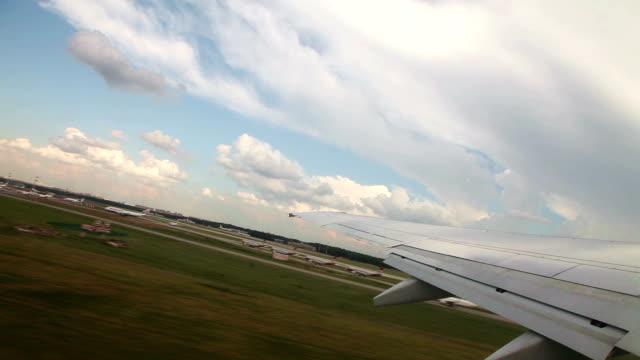 Passenger airplane taking off video