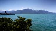 Passenger ferry on Geneva lake in Switzerland. video