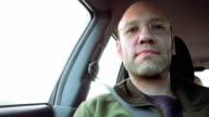 Passenger in the car looking forward video