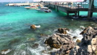 Passenger ship pier of Sangwan beach , Pattaya , Thailand. video