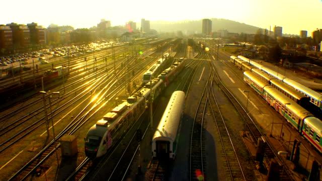 Passenger Train Arriving On Station video