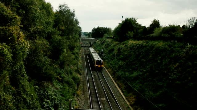 Passenger train passing video