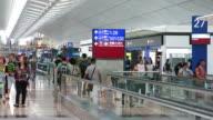 Passengers at HK airport video