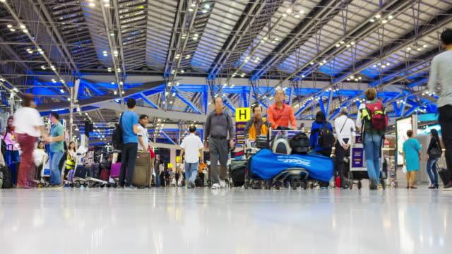 Passengers walking in Suvanaphumi Airport video